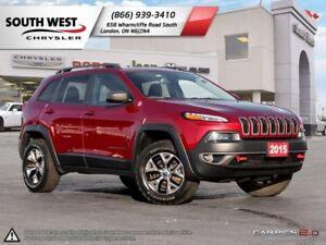2015 Jeep Cherokee   Trailhawk   Leather   Heated Seats & Wheel