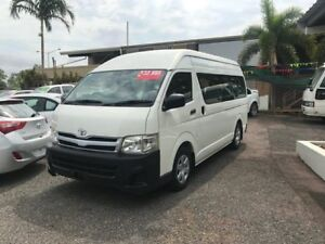 2012 Toyota HiAce KDH223R MY11 Commuter High Roof Super LWB White 4 Speed Automatic Bus Winnellie Darwin City Preview