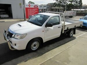 2011 Toyota Hilux KUN16R MY10 SR White 5 Speed Manual 2D CAB CHASSIS Croydon Burwood Area Preview