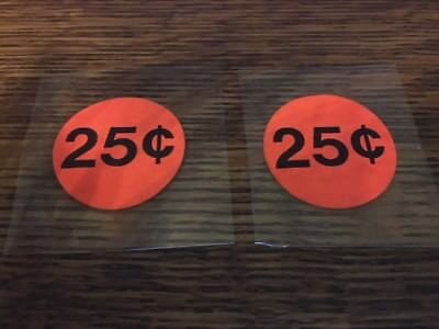 2 Static Cling 25 Cent .25 Price Decal Stickers Gumball Candy Vending Machine
