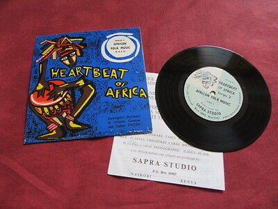 "VARIOUS African folk music 7"" EP +INSERT WORLD JAZZ FOLK KENYA"