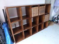 Solid wood box shelf