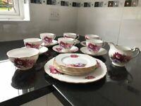 A Royal Vale bone china tea set