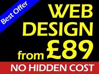 Professional Website Design from 89 | Cheap Web Design | Affordable | SEO | Logo | Hounslow London
