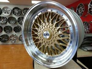 17x8 5x100 +20 Gold ESM 002R BBS RS Replica Wheels $750 Cash ( 4 New Wheels ) @905 673 2828