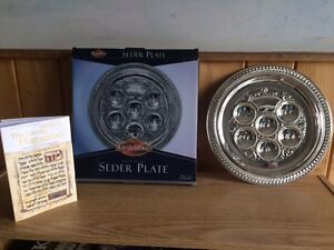 Seder Serving Tray, Matzah Cover and Family Haggadah Book - New