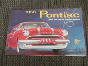 Antique Original 1955 Pontiac Sales Brochure-in good condition