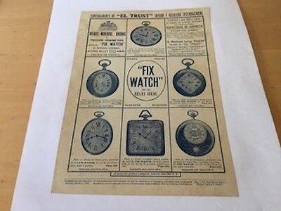 Vintage - The Trust Jeweler - Magazine Advert - Watches Of Pocket