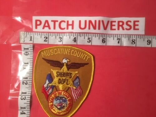 MUSCATINE COUNTY IOWA SHERIFF  SHOULDER PATCH Q019