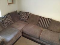 DFS right hand corner sofa from pet free and smoke free home