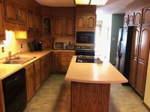kitchen cabinets, island, cooktop, oven, dishwasher, sink&faucet