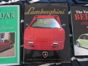 Car Coffee Table Book Lot Lamborghini & Jaguar Cambridge Kitchener Area image 3