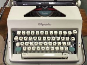 1967 Olympia standard typewriter with case