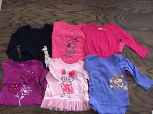 OshKosh, Carters&Children's Place Long Sleeve Girls Tops, Size 2