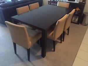 Modern Dining Suite - Large 6 seat dining table and chairs Newtown Inner Sydney Preview