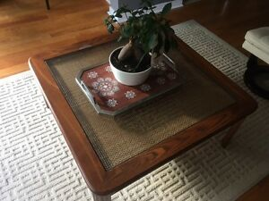 Set of 3 - Wooden Coffee Table + 2 Side Tables