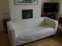 Stylish white IKEA settee/sofa