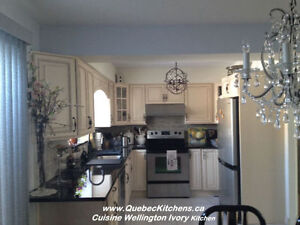 Wood Classic Kitchen Installed Laval: Customers Satisfied