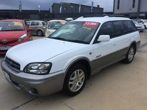 2003 Subaru Outback B3A MY03 D/Range AWD White 5 Speed Manual Wagon