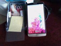 gold coloured lg g3 mobile phone