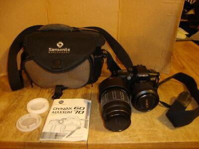 Konica Minolta Maxxum 70 With Tamron 75-300mm Zoom Lens, Bag & Instruction Book
