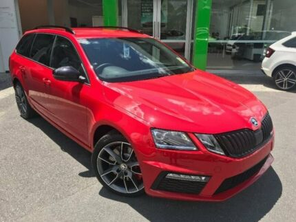 2017 Skoda Octavia NE MY18 RS DSG 169TSI Red 6 Speed Sports Automatic Dual Clutch Wagon