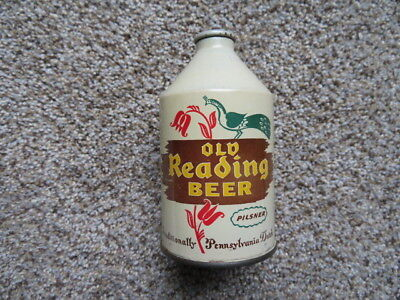OLD READING Beer CROWNTAINER CONE TOP Beer Can Nice Condition Brooklyn, N.Y IRTP