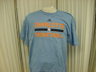 Authentic NBA Charlotte Bobcats Blue Training T-Shirt Size- XL Made by  adidas 80498230e