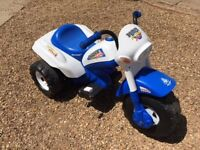 Injusa 6v battery police trike with charger