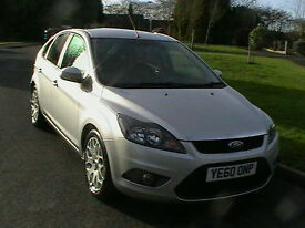 60 REG FORD FOCUS 1.6TDCi 110 DIESEL ZETEC 5 DOOR HATCHBACK IN SILVER HPI CLEAR