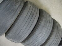 SET OF 4 AND ONE PAIR..6 TOTAL ALL SEASON 245/55R19.$80 FOR ALL