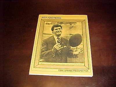 1986 Pitt Panthers Football Media Guide Spring Prospectus