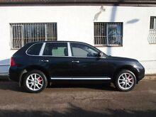2003 Porsche Cayenne 9PA Turbo Basalt Black Auto Sports Mode Wagon Petersham Marrickville Area Preview