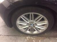"BMW 17"" MSPORT ALLOY WHEELS EXCELLENT TYRES"