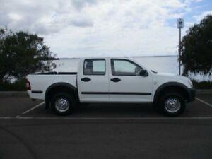 2006 Holden Rodeo RA MY06 Upgrade LX White 5 Speed Manual Crew Cab Pickup