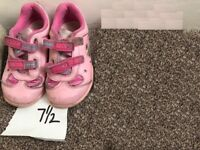 Clarks Pink trainers light up trainers size 7.5 girls shoes