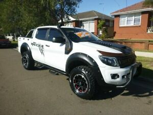 2012 Ford Ranger PX XL Double Cab White 6 Speed Sports Automatic Cab Chassis Merrylands Parramatta Area Preview