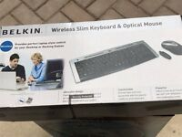 Belkin Wireless Slim Keyboard & Optical Mouse