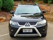 2009 Mitsubishi Outlander ZG MY09 VR-X Black 6 Speed Sports Automatic Wagon Littlehampton Mount Barker Area Preview