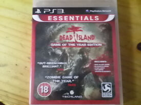 Sony PS3 Dead Island game.