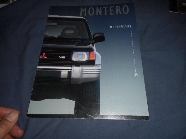 1995 Mitsubishi Montero USA Market Sales Catalog Brochure Prospekt