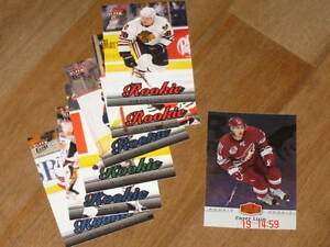 cartes de Hockey - 7 recrues, Gold, et beau lot de Fleer
