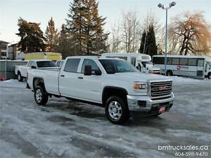 2015 GMC SIERRA 3500HD SLE CREW CAB LONG BOX 4X4 ONLY 39,000KM