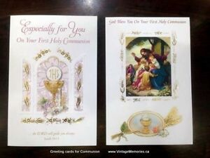 Beautiful Italian greeting cards figurines communion christening