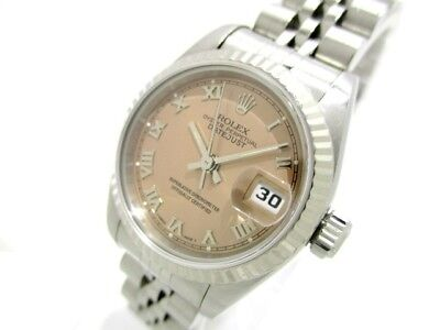 Auth ROLEX The Datejust 69174 Silver Woman