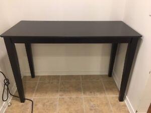 Table noire haute
