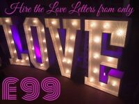 LOVE & Letter Hire from only £75 (The Perfect Wedding Touch)