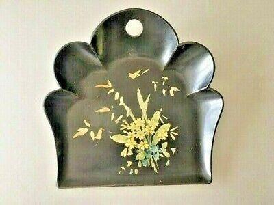 Antique Paper Mache Crumb Tray
