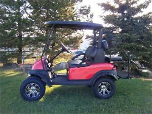 2007 Club Car Precedent Lifted, Custom Seats, Blk Roof, 14's