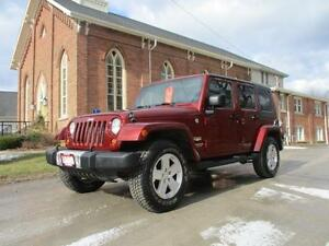2009 Jeep Wrangler Unlimited Sahara-LEATHER-NAVIGATION-CERTIFIED